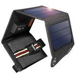 Cargador Solar Suaoki 7w Portátil Plegable Usb Entrega Ya!
