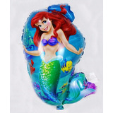 10 Balão Metalizado Pequena Sereia Ariel Fundo Do Mar 69x41