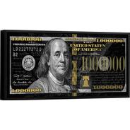 Quadro Decorativo 1 Milhão De Dólares Tamanho Grande 100x50