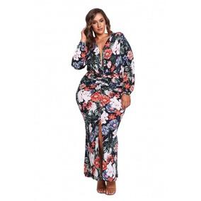 Maxi Vestido Largo Talla Extra Fiesta Noche Casual 61761