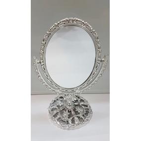 Espelho De Mesa Princesa Dupla Face Com Aumento 30x19cm