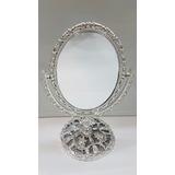 10 Espelho De Mesa Princesa Dupla Face C/aumento P/maquiagem