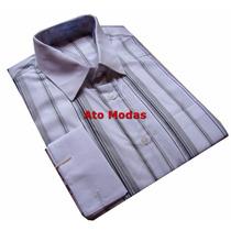Camisa Masculina Punho Duplo P/ Abotoaduras N.03 (m)ponta D