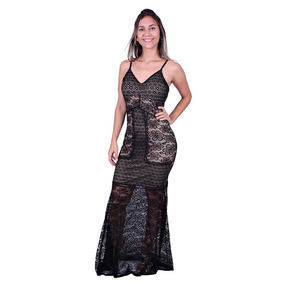 Vestido Longo Rendado Lemise Vv-7245 - Asya Fashion
