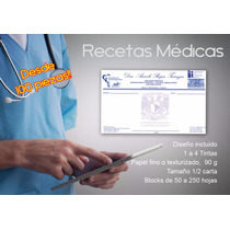 Recetas Médicas Desde 100 Pzas! 4 Tintas! Papel Fino/texturi