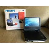 Dvd/cd Player Portátil Philips Pet702 Com Tela De 7pol