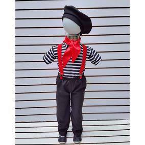 Disfraz Mimo Niño Pantalon Tirantes Boina Camisa