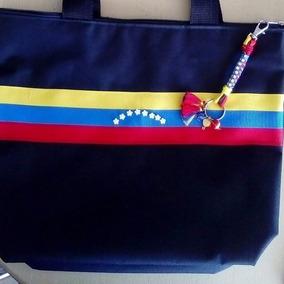 Bolsos , Carteras Tricolor En Lona Para Damas