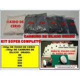 Oxido De Cerio Kit Pulir Cristal 100gr,abrasivos En Polvo