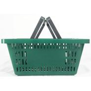 Kit 5un Cestinha De Compras Mercado Supermercado 13l