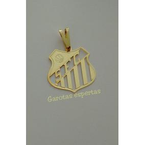 Pingente Em Prata Banho De Ouro Time Santos Futebol Clube - Joias e ... 825620b541846