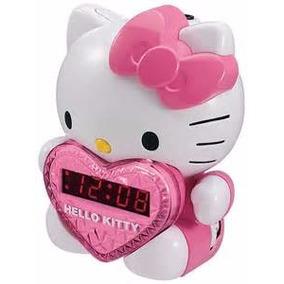 Hello Kitty Am / Fm Alarma Proyección Radio Reloj