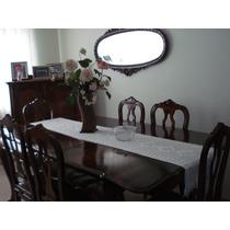 Sala De Jantar Antiga De Imbuia, Cristaleira, Bar E Espelho