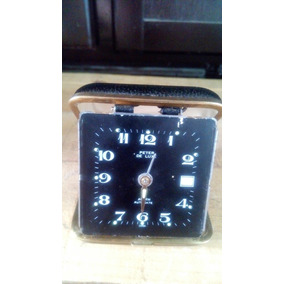 Reloj Despertador Antiguo Peter De Luxe De Bolsillo Viajero