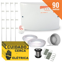 Kit Cerca Elétrica Gcp 90 Metros C/ Setor De Alarme + Brinde