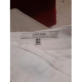 Zara Basic Falda Tiza Talle 36 Muy Bue Estado Pique Algodon