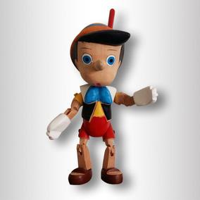 Pinocho De Madera Tallado A Mano