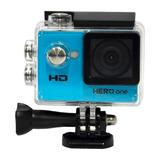 Action Cam Goal Pro Sports Cam Hero One Tela 2 720p - Azul