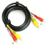 Cable 3 Rca A 3 Rca Audio Tipo Coaxial Video 1,75 Metros