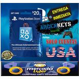 Tarjeta Playstation Network Psn 20 Us$ Usa