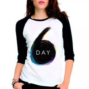 Camiseta Day6 Day 6 Kpop K-pop Logo Raglan Babylook 3/4