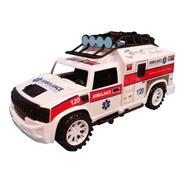 Ambulancia De Juguete A Friccion Luz-sonido Full (25037)