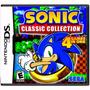 Jogo Sonic Classic Collection Ds Lacrado + Pôster Brinde