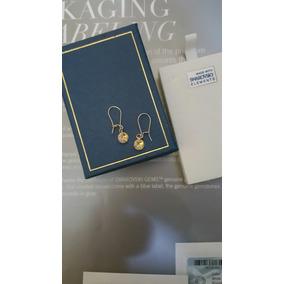 Aros Mini Punto De Luz Cristal Swarovski Goldfilled 14k.