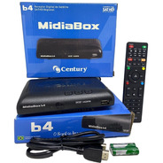 Receptor Digital Century Midiabox B4 Azul Hd Tv Midia Box B4