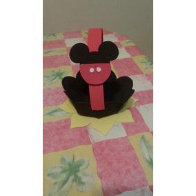Souvenir Canasta Para Golosinas Caramelos Minnie Mickey X10