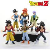 Set 6 Figuras Dragon Ball Vegeta Goku + Base Promocion!