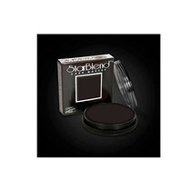 Mehron Starblend Wet/dry Cake Makeup, Black 2 Ounce