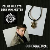 Colar Amuleto Do Seriado Supernatural Dean Winchester Bronze