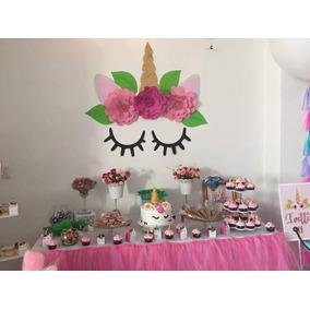 Bolos de dulces de unicornio decoraci n para fiestas en for Decoracion para pared de unicornio