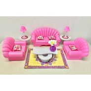 Muebles De Casa Muñecas Barbie, Juego De Sala De Estar