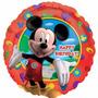 10 Globos De Mickey Metalizados 45 Cm + 10 Varillas