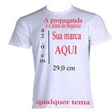 Camisetas Personalizadas! 5 Unidade Empresa/frente E Verso