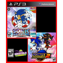 Sonic Adventure 1 E 2 Codigo Psn Play 3 Ps3 Jogo Original