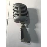 Microfone Antigo Shure Original Modelo 55s