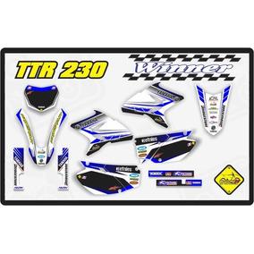 Kit Adesivo Ttr 230 Yamaha Com Capa De Banco