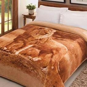 Cobertor Casal Pelo Alto Leão Jolitex 1,80x2,20m Ótimo Preço