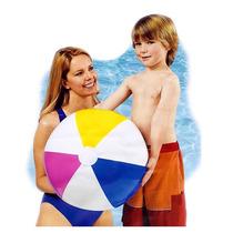Bola Infantil Inflavel Vinil 61cm Praia Piscina Color Intex