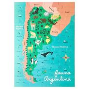 Rompecabezas Mapa Fauna Argentina 28 Piezas 48x68cm Ddl