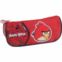 Estojo Escolar Angry Birs Vermelho