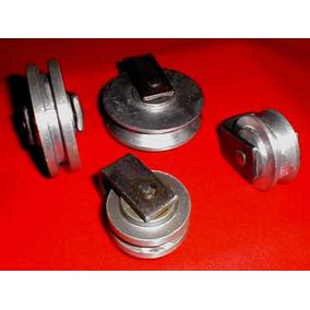 Rueda En Aluminio Para Porton 4 Pulgadas