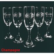 Copa Champagne X 2u Grabado Láser Personalizado Casamiento