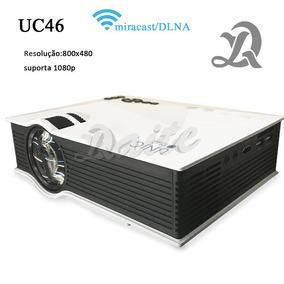 Mini Projetor Led Unic Uc46 130pol 1200lumen Wifi S/juros