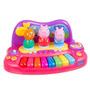 Peppa Piano Com Personagens Menina Crianca Super Promocao