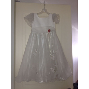 Vestido Fiesta Gala Paje Matrimonio Talla 10 Casa Blanca