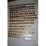 Colección De 205 Monedas Chilenas Y 99 Extranjeras Vendo.